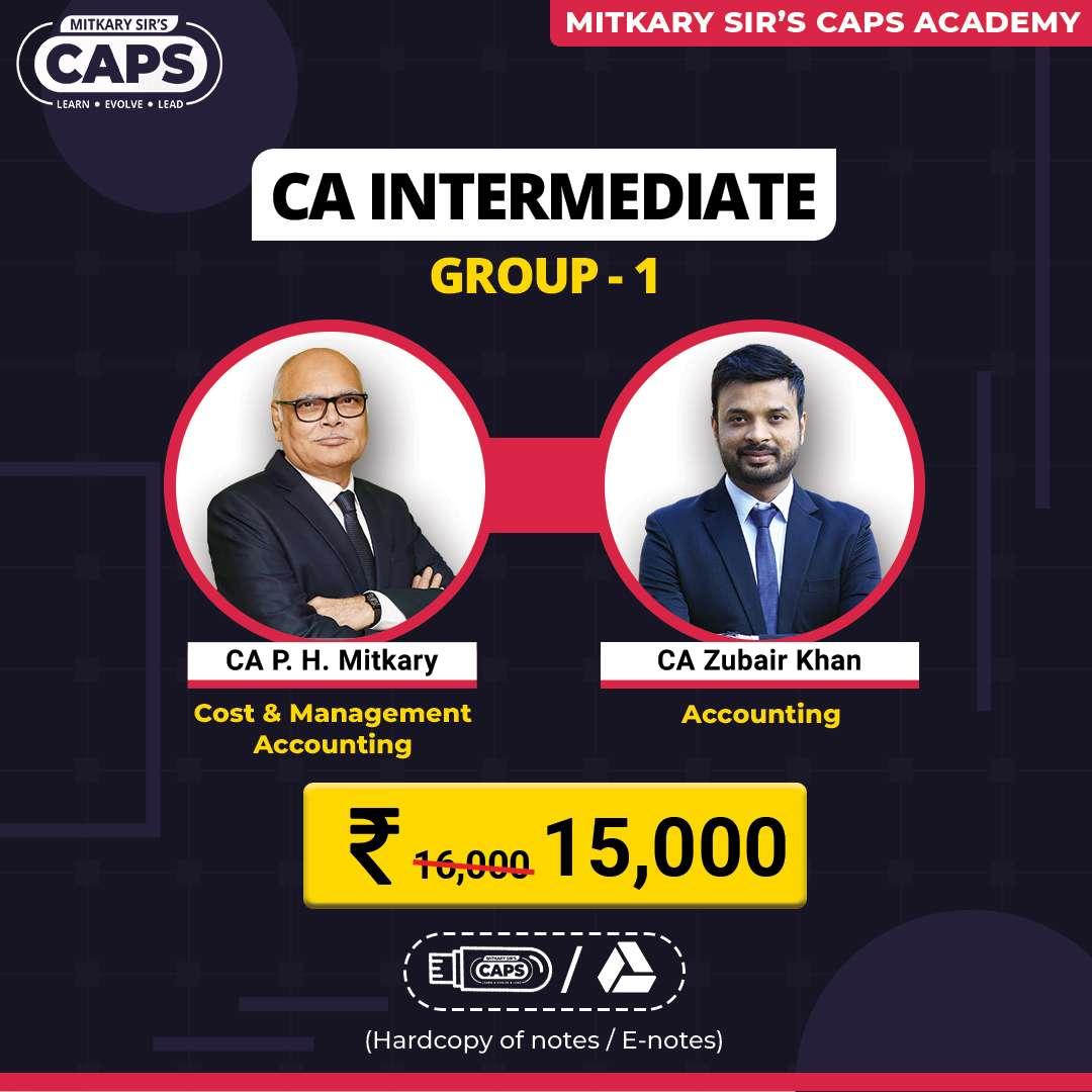 CA Inter Group 1 CMA & accounting
